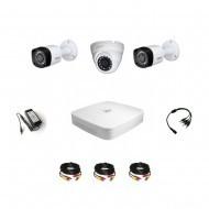 Комплект видеонаблюдения Dahua Professional 2 уличные - 1 купольная (металл)