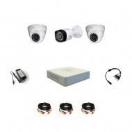 Комплект видеонаблюдения Dahua Profesional 1 уличная - 2 купольные (металл)