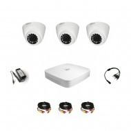 Комплект видеонаблюдения Dahua Professional 3 внутренние
