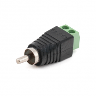 Разъем для подключения питания RCA-M с клеммами под кабель