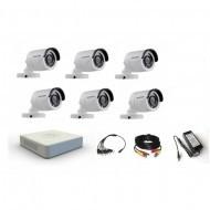 Комплект видеонаблюдения Hikvision 6 уличные