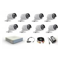 Комплект видеонаблюдения Hikvision 8 уличные