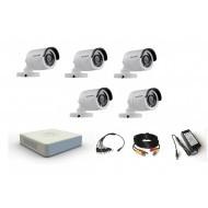 Комплект видеонаблюдения Hikvision 5 уличных