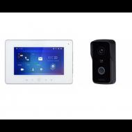 Комплект: IP видеодомофон Dahua DHI-VTH5221DW-S2 + Wi-Fi вызывная панель Dahua DH-VTO2111D-WP-S1