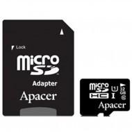 Карта памяти MicroSDHC APACER 32GB UHS-I CLASS10 W/ 1 ADAPTER RP (AP32GMCSH10U1-R)